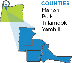 Graphic of Marion Polk Tillamook Yamhill counties