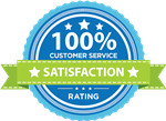 100% Customer Service Satisfaction Seal