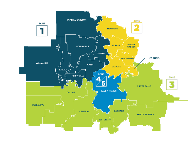 WESD District Map Zones