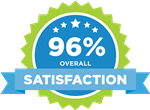 96% Overall Satisfaction Seal
